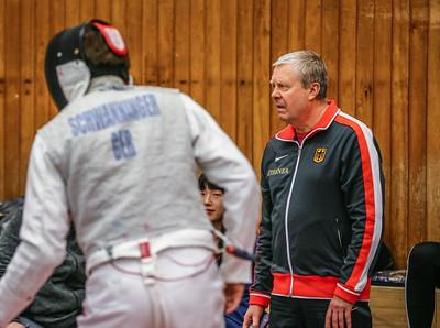Jörg SCHWANNINGER (GER), Nikolai KOTCHETKOV; Deutschlandpokal 2. Runde DfC Düsseldorf vs. CTG Coblenz (26-45) am 15.2.19