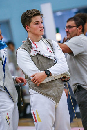 "London Great Britain - November 3rd, 2018; Impressions of the ""Eden cup"", a male/female junior foil world cup. In photo: Tom LOEHR GER,  Photo by: Jan von Uxkull-Gyllenband"