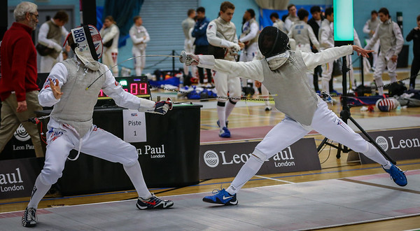 "London Great Britain - November 3rd, 2018; Impressions of the ""Eden cup"", a male/female junior foil world cup.  In photo: RHYS POLLITT Rafael GBR,  RHYS POLLITT Rafael,  Photo by: Jan von Uxkull-Gyllenband"