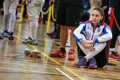 "London Great Britain - November 3rd, 2018; Impressions of the ""Eden cup"", a male/female junior foil world cup. In photo: SUNDUCHKOVA Alexandra RUS,   Photo by: Jan von Uxkull-Gyllenband"