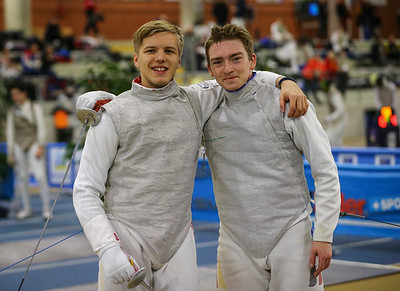 ZIEGON Anton (GER), BOROWIAK Arwen (GER); Junior foil world cup  in Udine,Italy
