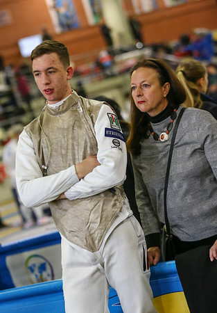 PRAUS Markus (GER); Junior foil world cup  in Udine,Italy