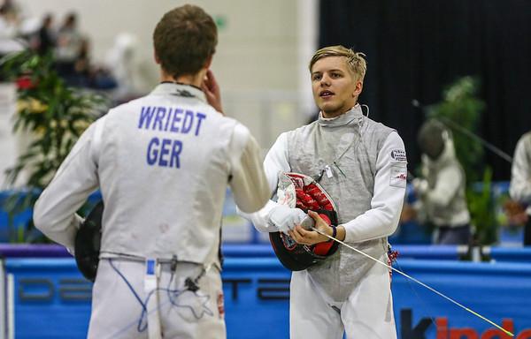 BOROWIAK Arwen (GER), WRIEDT Nathan (GER); Junior foil world cup  in Udine,Italy