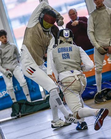 GOREN Raz (ISR), PRAUS Markus (GER); Junior foil world cup  in Udine,Italy