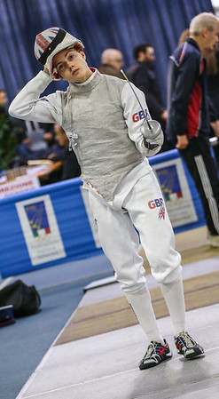 RHYS POLLITT Rafael (GBR); Junior foil world cup  in Udine,Italy