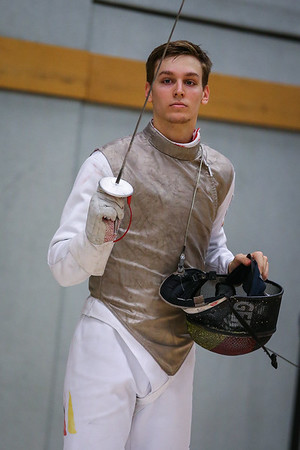 "Bonn, Germany - 9th November 2018; Mens foil world cup ""Loewe von Bonn"",    in photo:  KLEIN Luis GER,    photo by: Jan von Uxkull-Gyllenband"