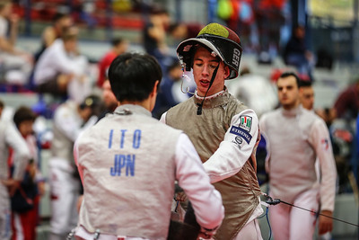 "Bonn, Germany - 9th November 2018; Mens foil world cup ""Loewe von Bonn"",    in photo:  Markus PRAUS GER, ITO JPN,   photo by: Jan von Uxkull-Gyllenband"