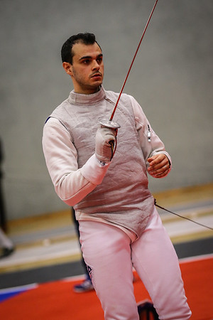 "Bonn, Germany - 9th November 2018; Mens foil world cup ""Loewe von Bonn"",    in photo: ROSOWSKY Husayn GBR,    photo by: Jan von Uxkull-Gyllenband"