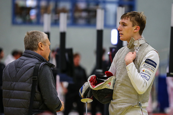 "Bonn, Germany - 9th November 2018; Mens foil world cup ""Loewe von Bonn"",    in photo:   Fabian BRAUN GER, Nikolai KOTCHETKOV,  photo by: Jan von Uxkull-Gyllenband"