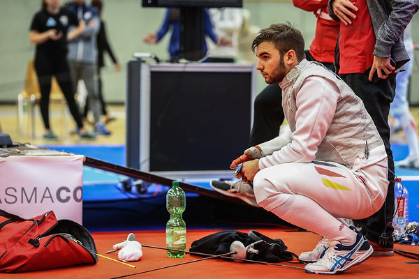 "Bonn, Germany - 9th November 2018; Mens foil world cup ""Loewe von Bonn"",    in photo: VELLA Rosario GER,    photo by: Jan von Uxkull-Gyllenband"