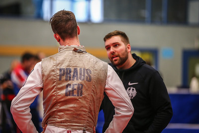 "Bonn, Germany - 9th November 2018; Mens foil world cup ""Loewe von Bonn"",    in photo:  Markus PRAUS GER, Richard JUNGHANNS GER,   photo by: Jan von Uxkull-Gyllenband"