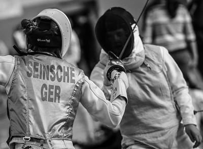 Johanna IVO (GER), SEINSCHE (GER); Mühlheim an der Ruhr, Deutschland - 16.02.19; Fechtturnier Mühlheim an der Ruhr 2019    Photos by: Jan von Uxkull-Gyllenband