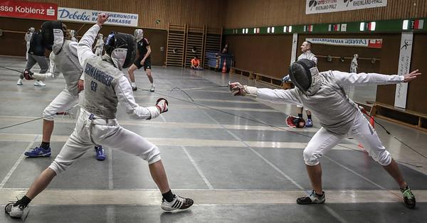 Tim SCHWANNINGER (GER), Lukas HORNE (GER); Koblenz, Deutschland - 20.03.19; Mittwochstraining    Photos by: Jan von Uxkull-Gyllenband