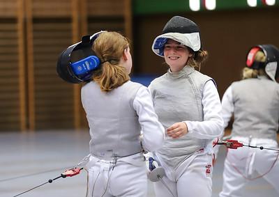 Cara BOHNEN (GER), Nele MITTNACHT (GER) Impressions of the CTG Koblenz fencing  training on 26.08.19