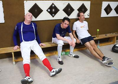 Frank SCHWAIBOLD (GER), Tim SCHWANNINGER (GER), Jörg SCHWANNINGER (GER) Impressions of the CTG Koblenz fencing  training on 26.08.19