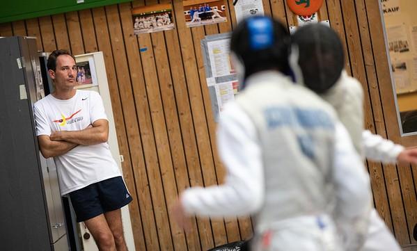 Jörg SCHWANNINGER (GER) Impressions of the CTG Koblenz fencing  training on 26.08.19