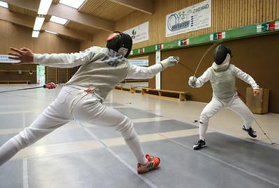 Moritz IVO (GER), Cara BOHNEN (GER) Impressions of the CTG Koblenz fencing  training on 26.08.19