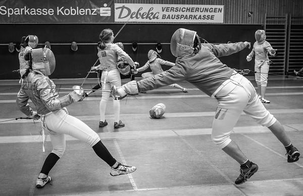 Felix KALTER (GER), Laura ZIOB (GER); Koblenz, Germany - April 3rd, 2019;  Impressionen vom Mittwochstraining.