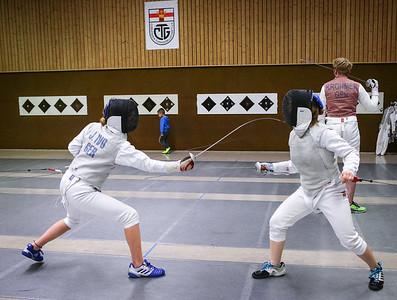 Johanna IVO (GER), Cara BOHNEN (GER); Koblenz, Germany - April 3rd, 2019;  Impressionen vom Mittwochstraining.