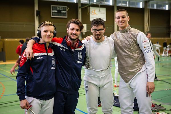 Arwen BOROWIAK (GER), Mark PERELMANN (GER), !GOMBOS, Luis KLEIN (GER) ; Burgsteinfurt, Germany - 26.10.19; Münsterland Cup HFL Aktive .