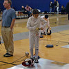 Lizzie Wiggins in the Y10 Women's Epee final.