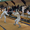 Elizabeth Wiggins (right) in the Y12 Women's Epee.