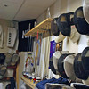 The University of New Hampshire Fencing Team has a unique way of storing the weapons.