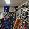 The University of New Hampshire Fencing Team storage closet.