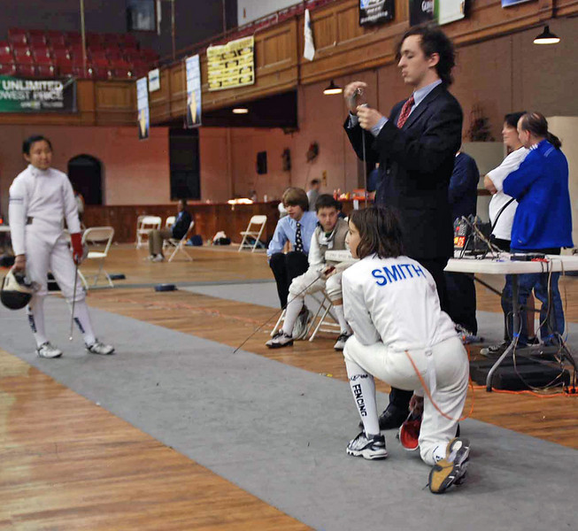 Julia Smith in the direct elimination round of the Y14 Women's Epee.