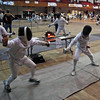 Levi Freedman (left) in Y12 Men's Epee.
