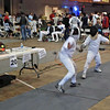 Levi Freedman (left) in Y10 Men's Epee.
