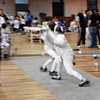 Seth Flanagan (right) in Y14 Men's Epee.