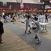 Sam Hayden (right) in Y14 Men's Epee.