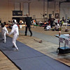Romain Hufbauer (right) in Y12 Men's Epee.