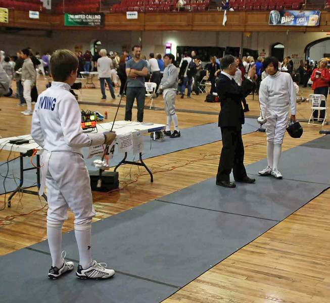 Raphael Hviding in Y14 Men's Epee.