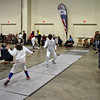 Annette Rangoussis (left) in the Youth-12 Women's Epee.