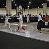 Emma Scala (left) in the Cadet Women's Epee.