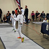 Elise King (right) in the Youth-12 Women's Epee.