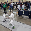 Henry Tucker (right) in the Youth-10 Men's Epee.