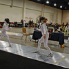 Alexis Sandler (right) in the Cadet Women's Epee.