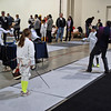 Ellie Bender (left) in the Youth-10 Women's Epee.