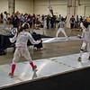 Ellie Bender (left) in the Youth-12 Women's Epee.