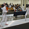 Jake Mezey (right) in the Cadet Men's Epee.