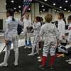 Clara Colinvaux (center) in the Youth-10 Women's Epee.