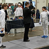 Lucas Partridge in the Cadet Men's Epee.
