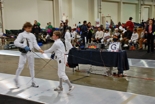 Henry Tucker in the Youth-12 Men's Epee.