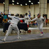 India Bhalla-Ladd (left) in the Cadet Women's Epee.