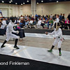 Anton Jordan (right) in the Youth-12 Men's Epee.