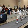 Emma Scala competing in the Youth-12 Women's Epee.