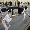 Bryce Knight in the Youth-10 Men's Epee direct elimination round.